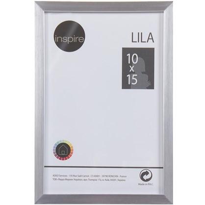 Рамка Inspire Lila 10х15 см цвет серебро