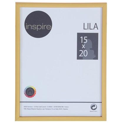 Рамка Inspire Lila цвет золото размер 15х20 см