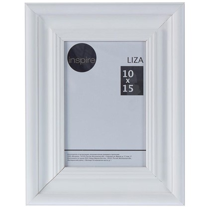 Рамка Inspire Liza 10x15 см цвет белый
