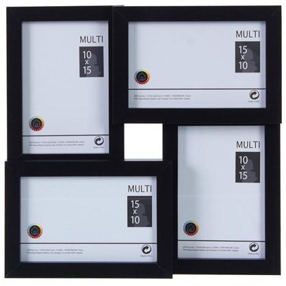 Рамка на 4 фотографии 10x15 цвет черный