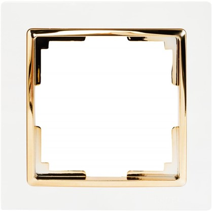 Рамка Snabb 1 пост цвет белый/золото