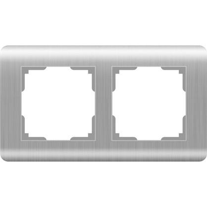Рамка Stream 2 поста цвет серебряный