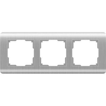 Рамка Stream 3 поста цвет серебряный