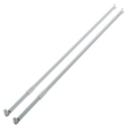 Рейлинг продольный Boyard MB00081 500 мм металл/пластик цвет белый