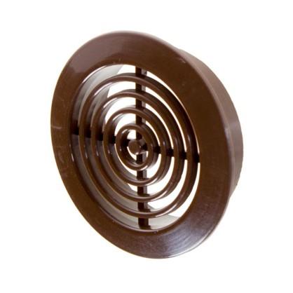Решетка дверная вентиляционная Awenta T-73 D45 мм цвет коричневый 2 шт