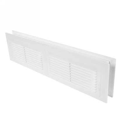 Решетка дверная вентиляционная Вентс МВ 380/2 382x104 мм цвет белый