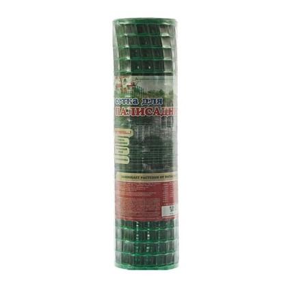 Решетка садовая размер ячейки 24х24 мм высота 50 см цвет хаки-зеленый