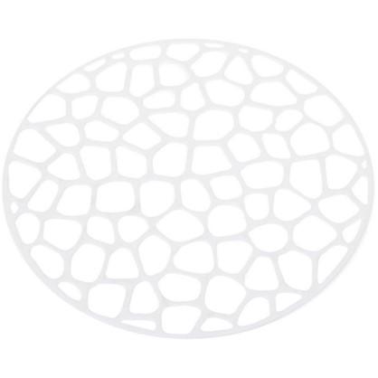 Решетка в мойку круглая D 30см цвет белый
