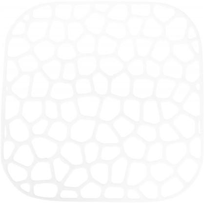 Решетка в мойку квадратная 30х30 см цвет белый