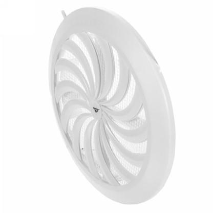 Решетка вентиляционная круглая Awenta T-88 100-150 мм цвет белый