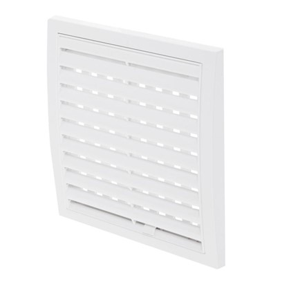 Решетка вентиляционная регулируемая АБС 1515РРП 150х150 мм цвет белый