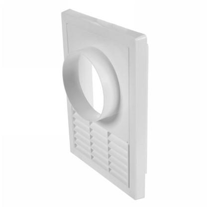 Решетка вентиляционная с фланцем Awenta T-68 165х235 мм цвет белый