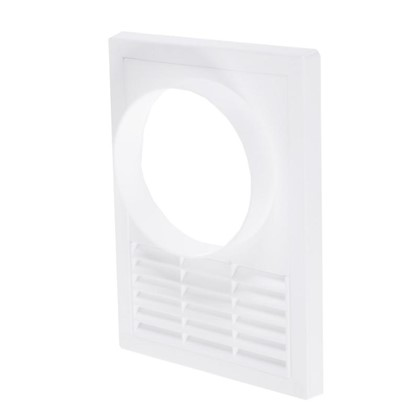 Решетка вентиляционная с фланцем Awenta T-98 165х235 мм цвет белый