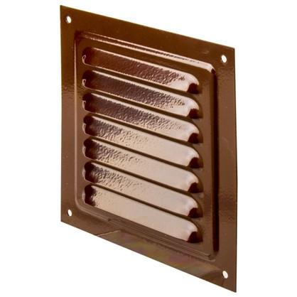 Решетка вентиляционная с сеткой Вентс МВМ 125 с 125х125 мм цвет коричневый