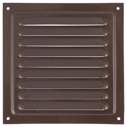 Решетка вентиляционная с сеткой Вентс МВМ 150 с 150х150 мм цвет коричневый