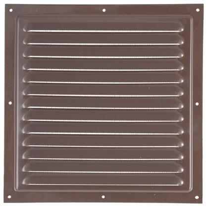 Решетка вентиляционная с сеткой Вентс МВМ 250 с 250х250 мм цвет коричневый