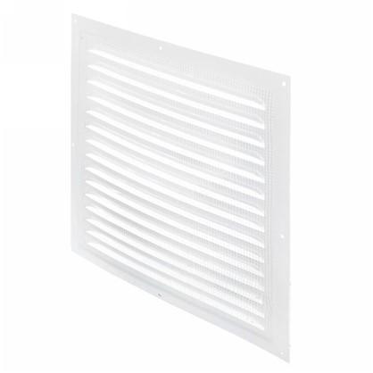Решетка вентиляционная с сеткой Вентс МВМ 300 с 300х300 мм цвет белый