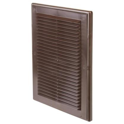 Решетка вентиляционная Вентс МВ 125 с 182x251 мм цвет коричневый