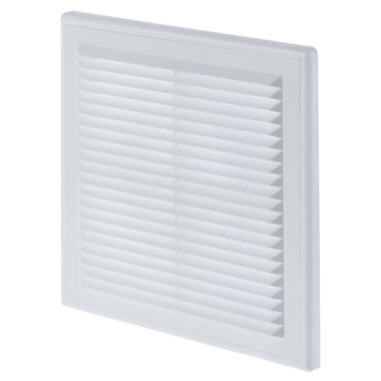 Решетка вентиляционная Вентс МВ 150 ВДс  204x204 мм цвет белый