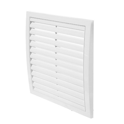 Решетка вентиляционная вытяжная АБС 250х250 мм цвет белый