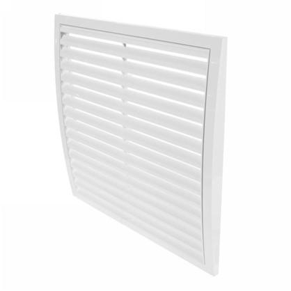 Решетка вентиляционная вытяжная АБС 350х350 мм цвет белый