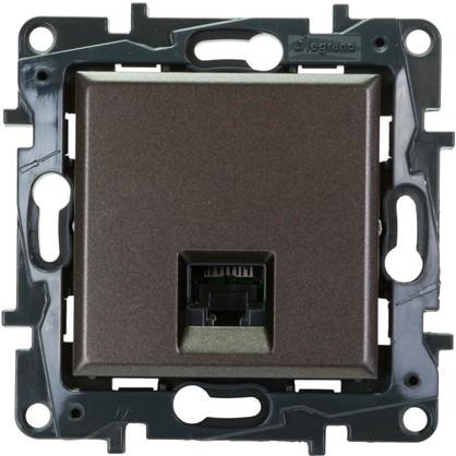 Розетка компьютерная Legrand Structura RJ45 UTP категория 5E цвет магнезиум