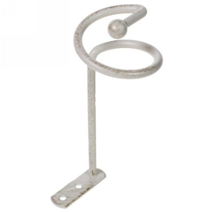 Розетка Спираль металл цвет белый