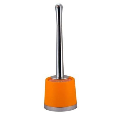 Ершик для унитаза напольный Альма пластик цвет оранжевый
