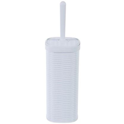 Ершик для унитаза напольный Swensa Rotang пластик цвет белый