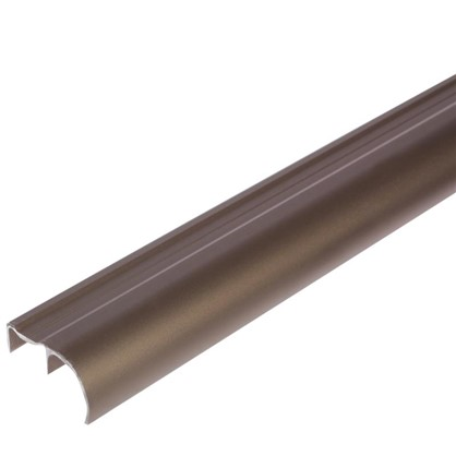 Ручка ассиметричная для ЛДСП 16 мм 2.7 м цвет шампань