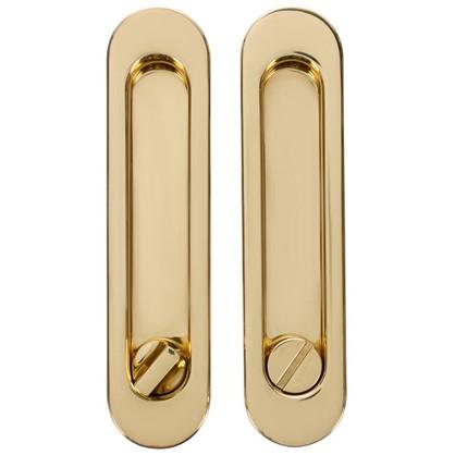 Ручка для раздвижных дверей с механизмом SH011-BK GP-2 цвет золото