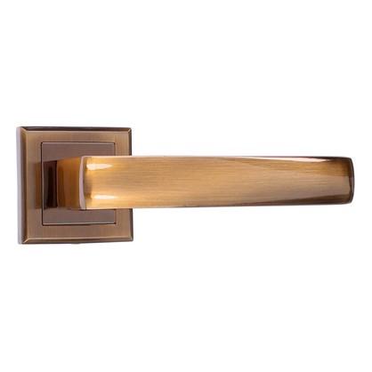 Ручка дверная на розетке Bussare Limpo A-65-30 алюминий цвет кофе