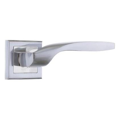 Ручка дверная на розетке Фабрика замков A 203 LPD цвет глянцевый белый