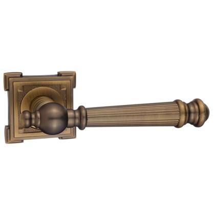 Ручка дверная на розетке Валенсия цвет кофе