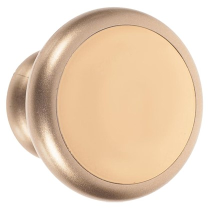 Ручка-кнопка Element 53 мм цвет матовое золото/золото глянцевое
