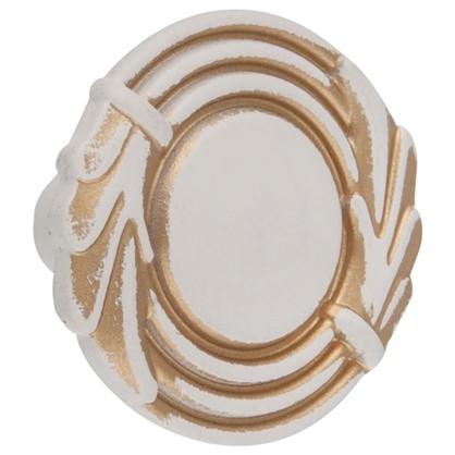 Ручка-кнопка FB 055 000 цвет золотой прованс/жемчужный белый матовый