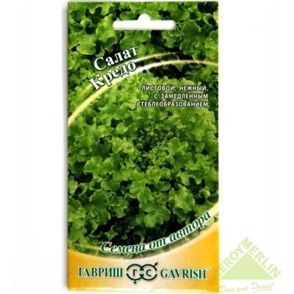 Салат листовой тёмно-зелёный Кредо серия Семена от автора