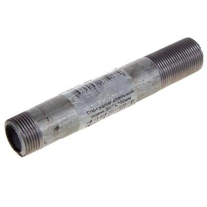 Сгон удлиненный d 20 мм L 0.15 м оцинкованный сталь