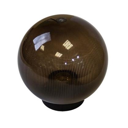 Шар уличный Palla 1xE27x60 Вт 200 мм пластик цвет коричневый