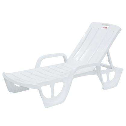 Шезлонг-лежак белый пляжный Флорида