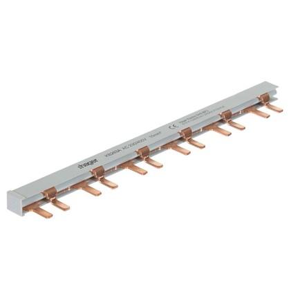 Шина гребенчатая Hager 2 полюса 12 модулей медь