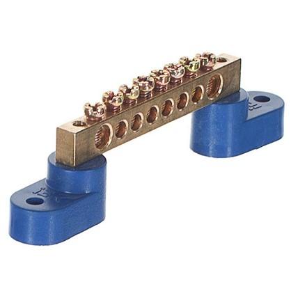 Шина нулевая на двух угловых изоляторах IEK ШНИ 6х9-8