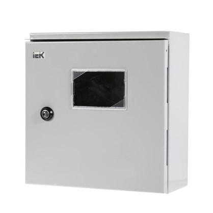 Щит металлический IEK ЩУ 1/1-0 74 У1 на 2 модуля IP54