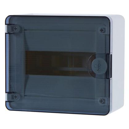 Щит пластиковый на стену Hager Golf на 8 модулей с прозрачной дверью