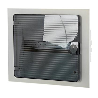 Щит пластиковый в нишу Hager Golf на 12 модулей с прозрачной дверью