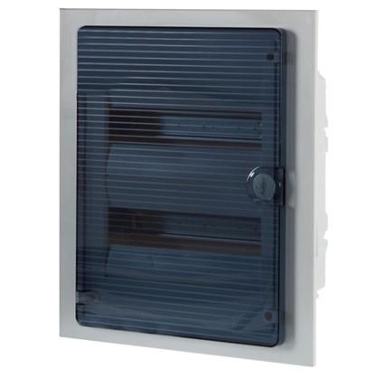 Щит пластиковый в нишу Hager Golf на 24 модуля с прозрачной дверью