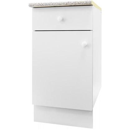 Шкаф напольный Бьянка Д с фасадом и одним ящиком 86х40 см цвет белый