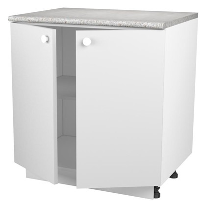 Шкаф напольный Бьянка Сп с фасадом 85х80 см ЛДСП цвет белый