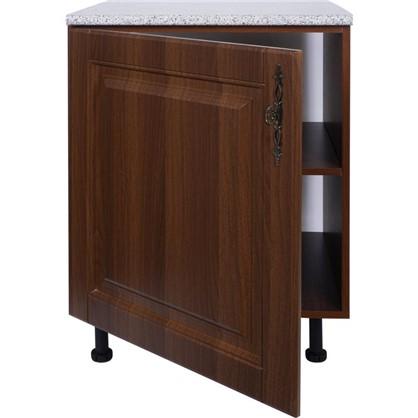 Шкаф напольный Орех Р 85х60 см МДФ цвет орех
