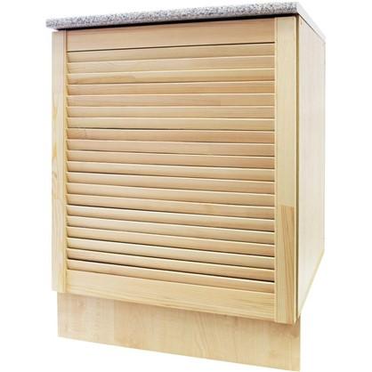 Шкаф напольный Сосна жалюзи Мо с фасадом 85х60 см хвоя/ЛДСП цвет cосна